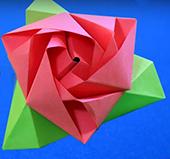 роза-коробка в технике оригами
