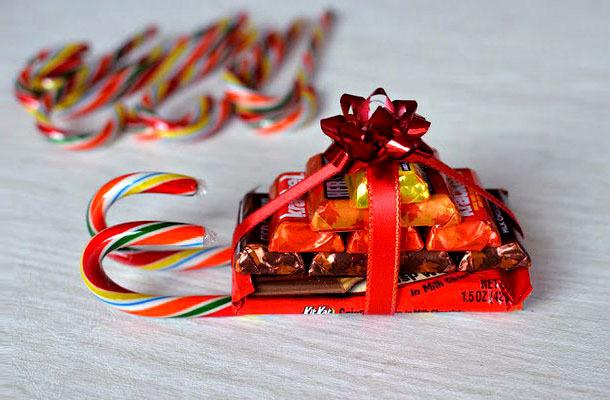 Подарки на новый год из конфет детям
