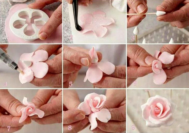 Роз из мастики пошагово