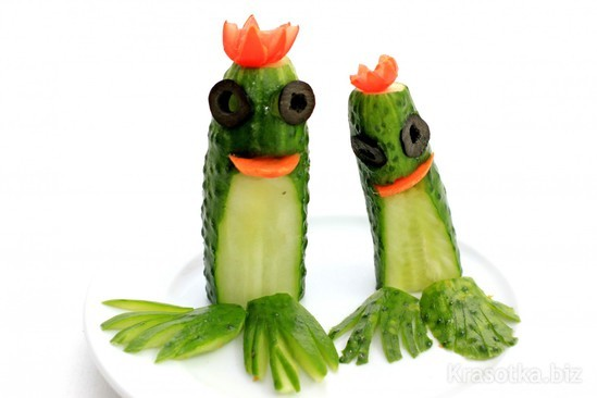 Лягушка из овощей поделка фото 15