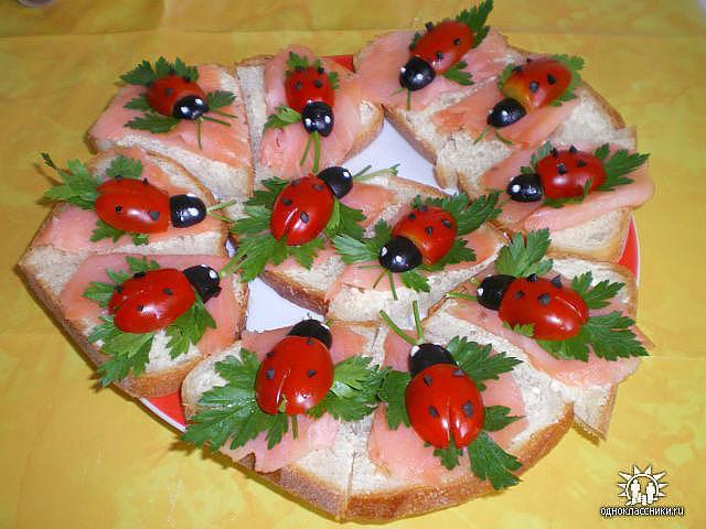 Украшение салатов на день рождения своими руками фото