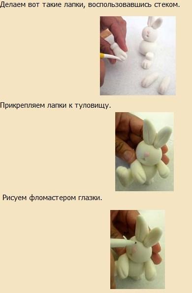Как из мастики сделать зайца из 92