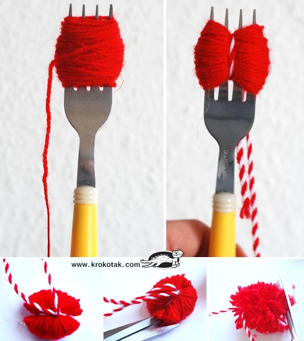 Как сделать помпоны из пряжи