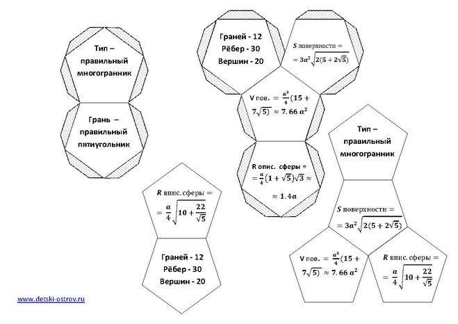Как сделать многогранники из бумаги своими руками