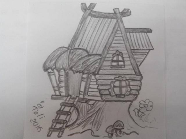 Как нарисовать теремок_05