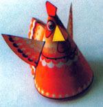 Петушок из конуса мк цветной бумаги своими руками
