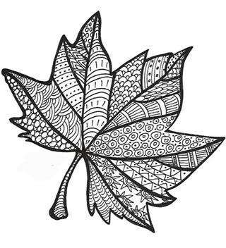 Кленовый лист ажурный, вытынанка