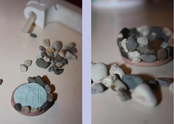 колодец для садика Феи из камушков