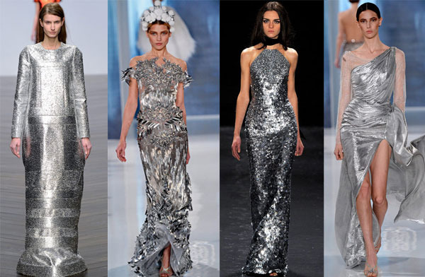 Серебряное платье с чем сочетается