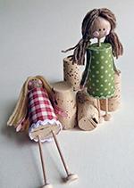 подарок своими руками из винных пробок на 8 марта своими руками кукла
