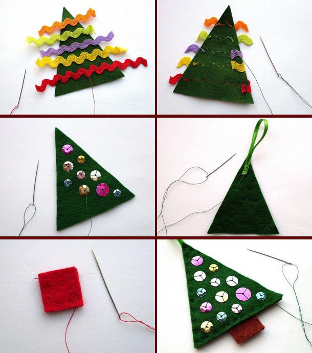 Как сделать новогодние игрушки своими руками легко