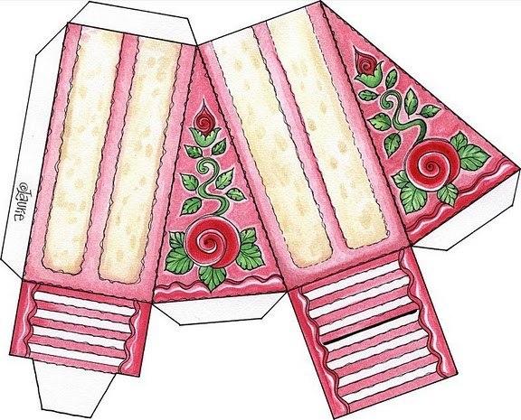Торт из бумаги своими руками чертежи