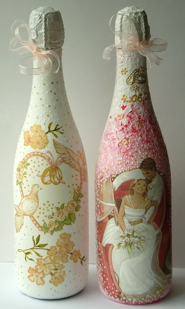 Новогодние бутылки с шампанским своими руками фото 578