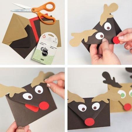 Как сделать конверт на новый год для деда мороза