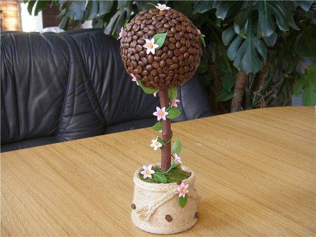 Как сделать деревья из кофейных зерен своими руками