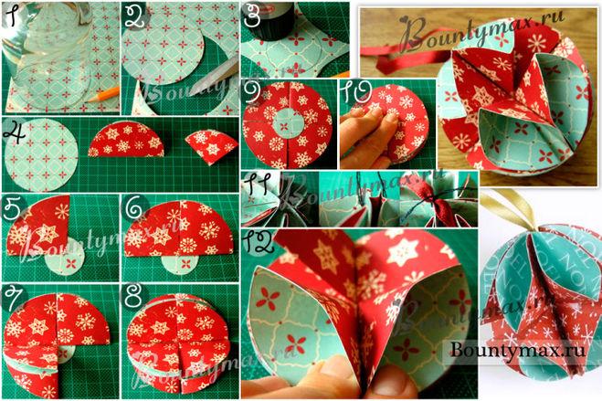 Как сделать новогоднюю поделки из бумаги