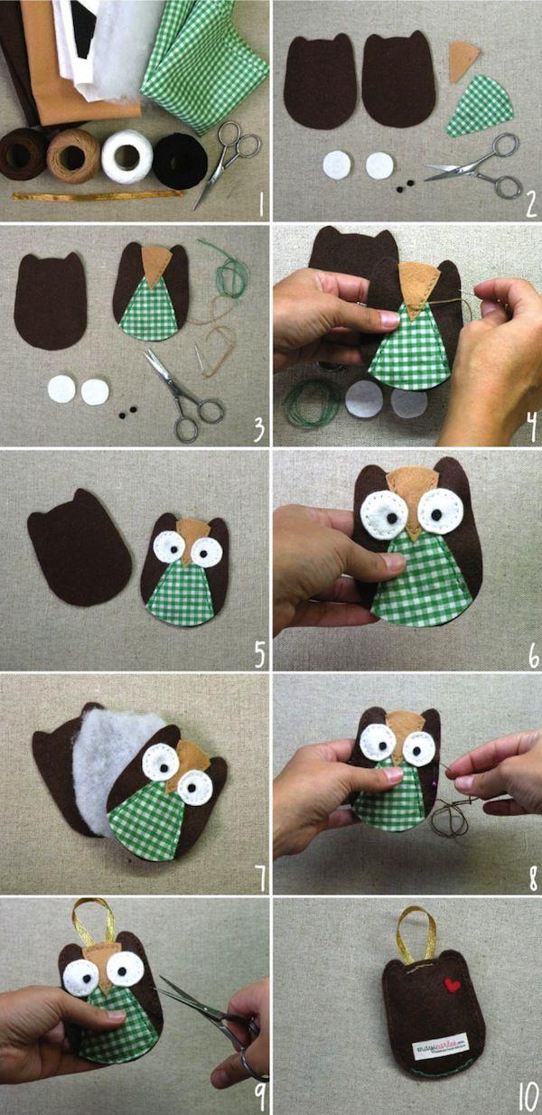 Сшить игрушку сову своими руками 41