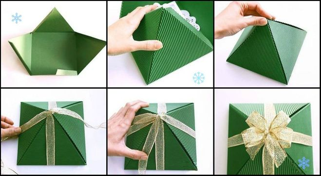 Из бумаги подарочные упаковки