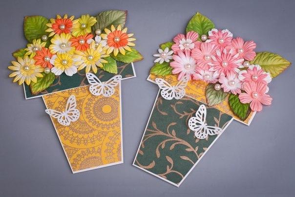 Открытки с цветком на 8 марта своими руками