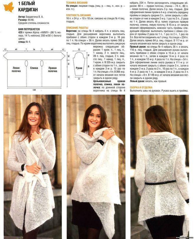 Как связать на спицах модный кардиган 3