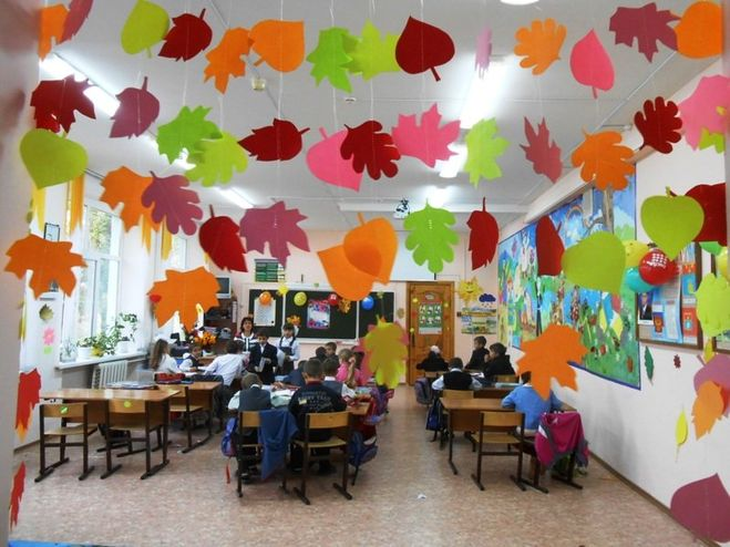 Украсить зал к 1 сентября своими руками