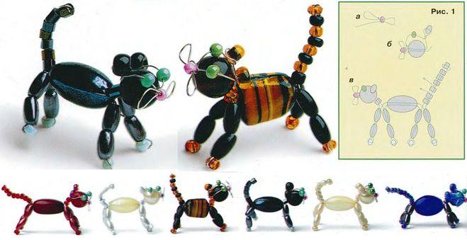 Как сделать из бисера животных из проволоки