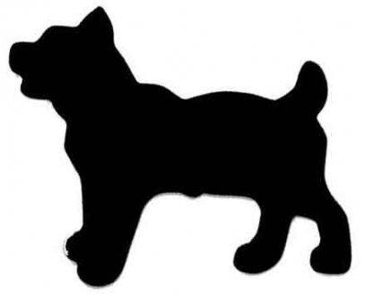 Как сделать трафарет собаки?