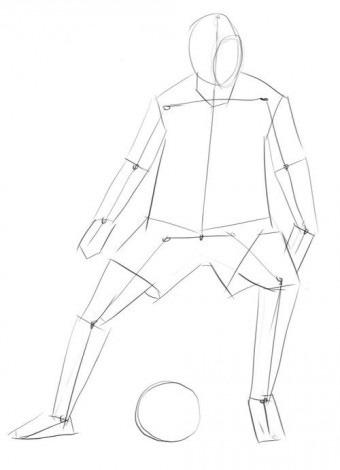Как нарисовать футболистов поэтапно