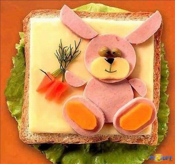 Как приготовить красивый бутерброд фото