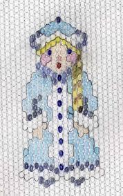 новогодняя поделка Снегурочка из бисера, схемы снегурочки