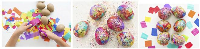 украшение яиц в технике аппликации на Пасху мастер-класс