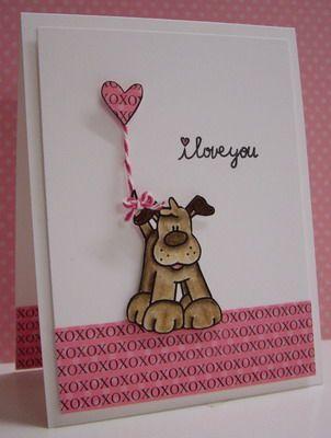 открытка с собакой