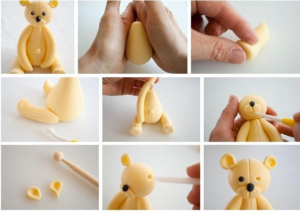Как сделать мишка из мастикой фото