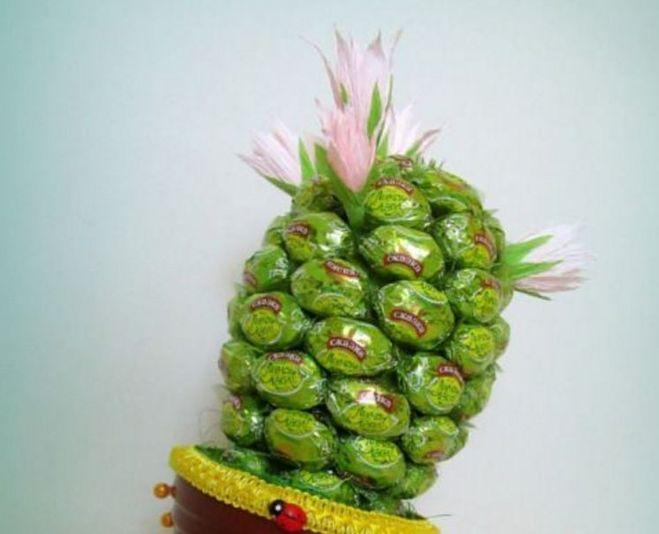 Кактус из конфет своими руками пошаговое фото 4107