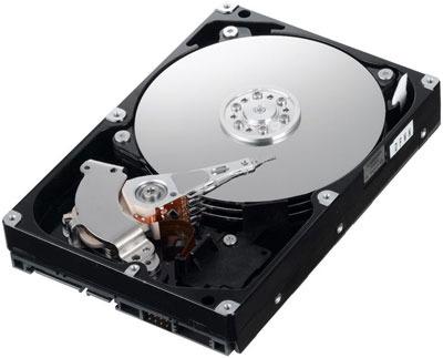 Жесткий диск компьютера. Вид внутри.