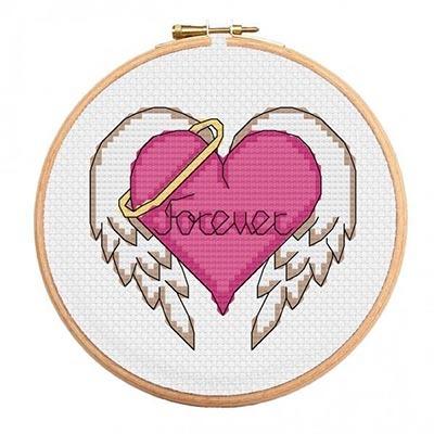 ангел-сердце вышивка на день Святого Валентина