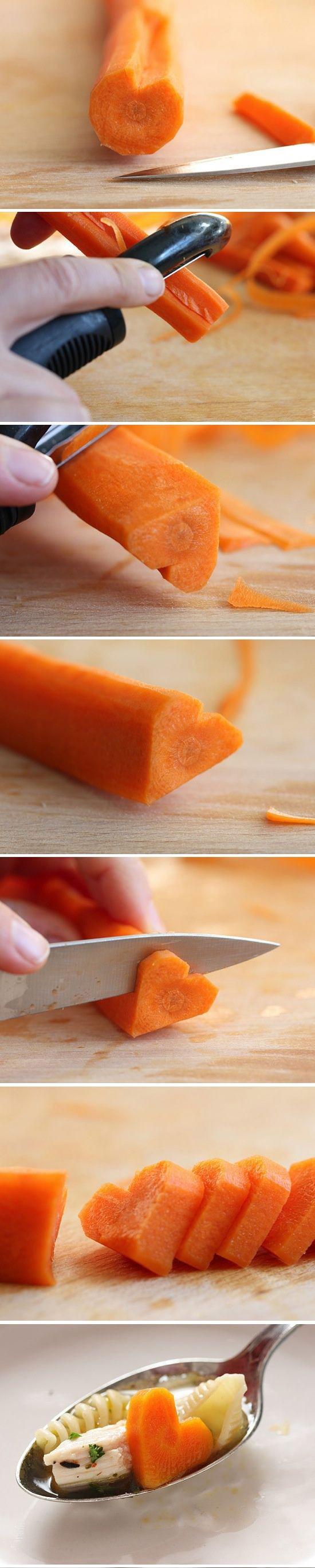 сердечко из моркови