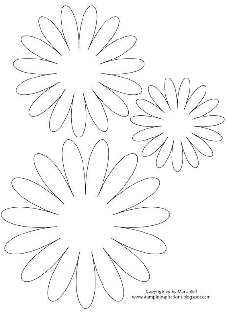 Шаблон цветов из фетра
