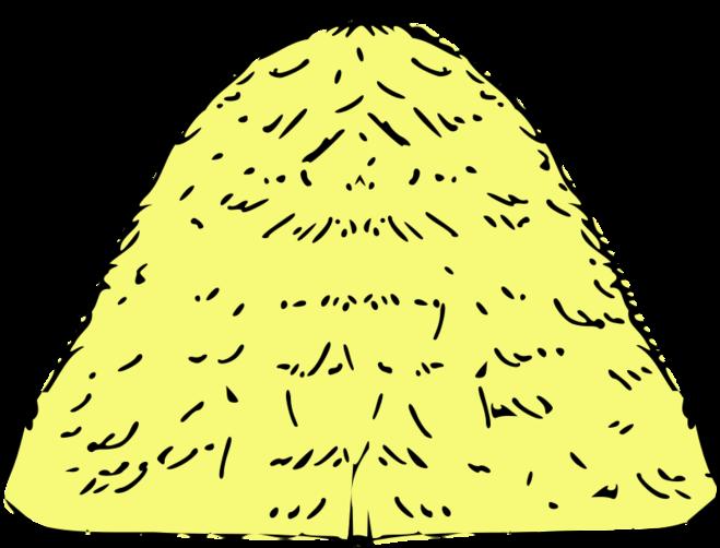 Рисунок стог сена для детей