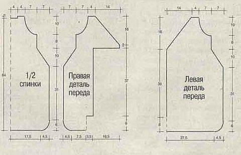 схема вязания конверта для новорожденного спицами пошагово