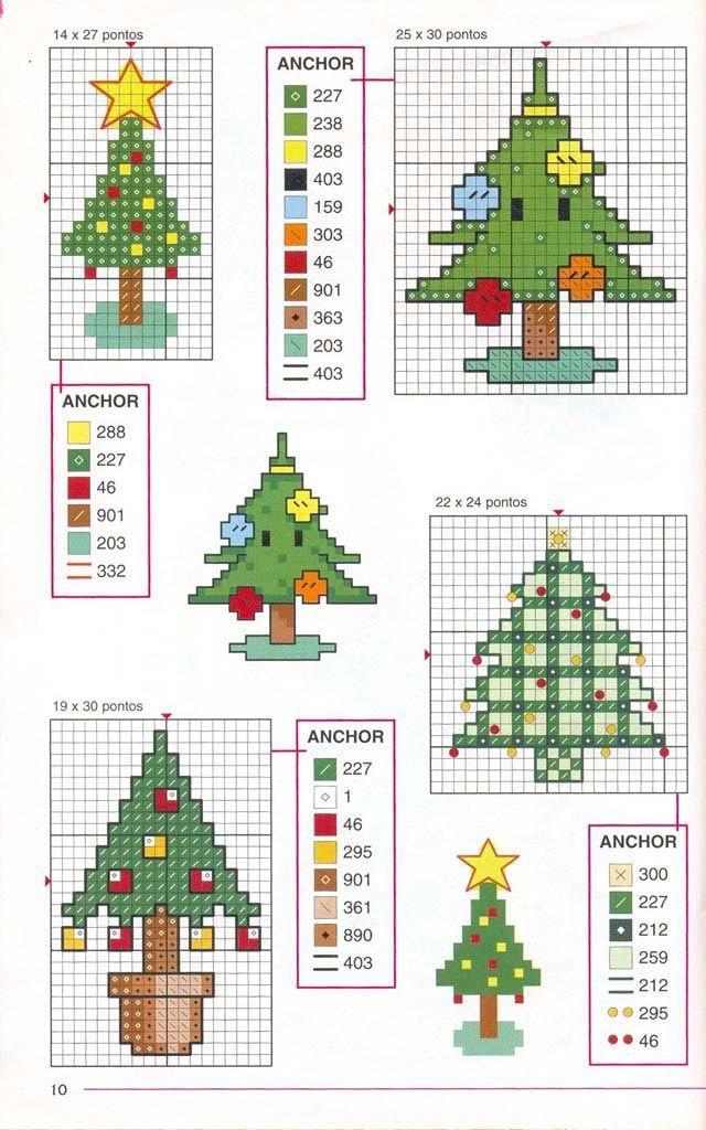 Схемы для вышивания крестиком на новый год
