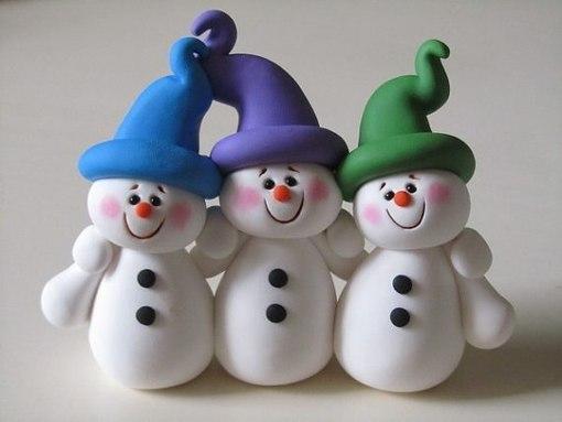 новогодняя поделка, поделка снеговик, поделка снеговик олаф, как слепить снеговика, схемы лепки снеговика
