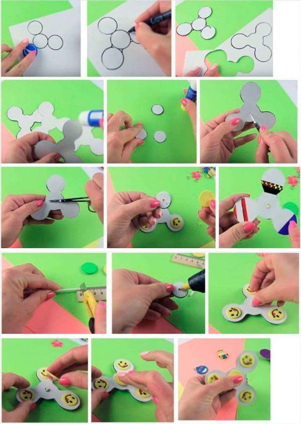Как сделать спиннер своими руками из бумаги а4