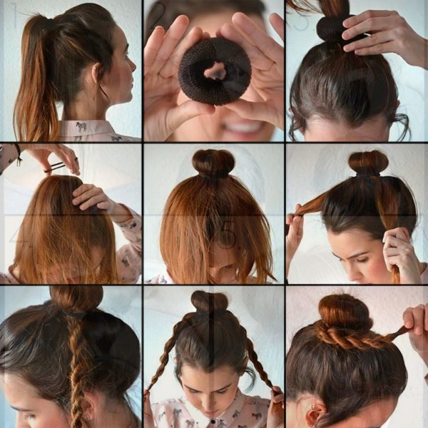 как сделать хвост на голове