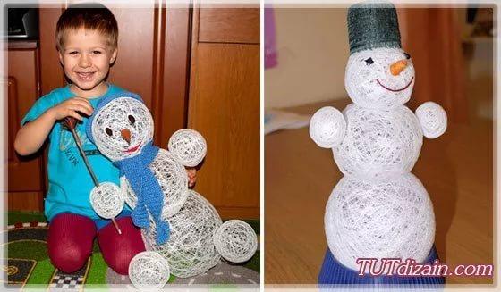 Как сделать голову снеговика из пластиковых стаканчиков фото 409