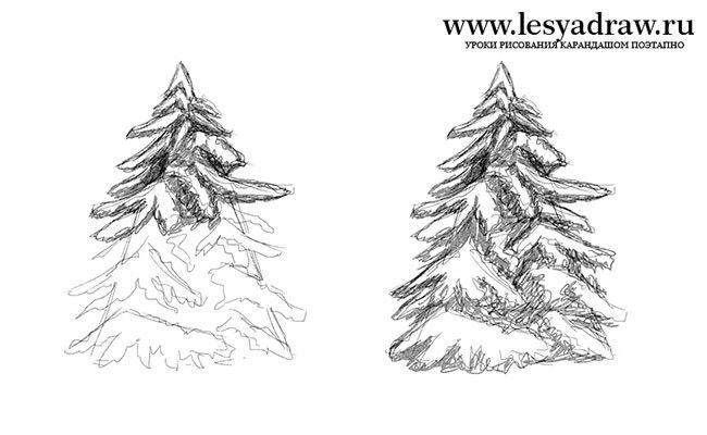 Как нарисовать гору карандашом