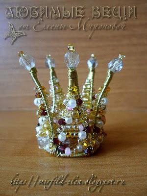 Сделать корону из бисера своими руками