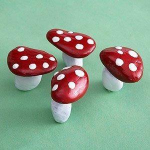 грибы из камушков