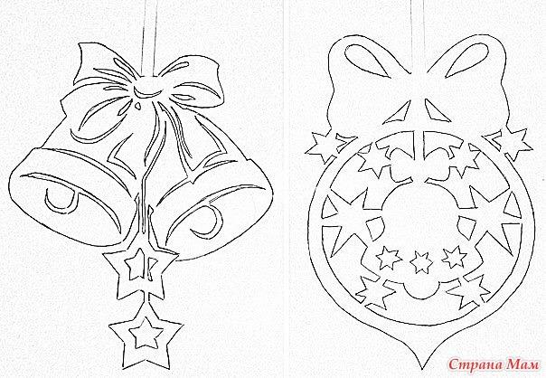 Трафареты для декора новый год своими руками шаблоны
