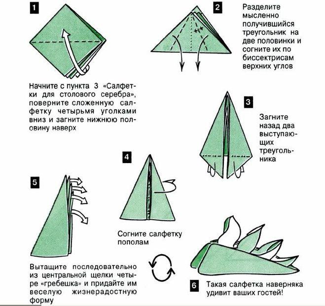 Оригами из бумажных салфеток своими руками